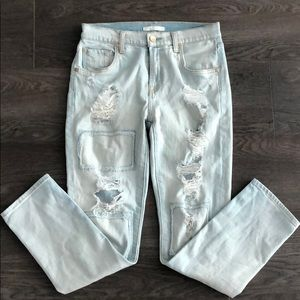 7 For All Mankind Distressed Relaxed Skinny